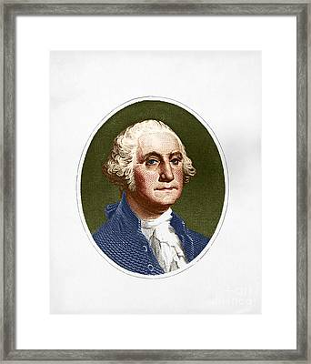 George Washington, 1st American Framed Print by Photo Researchers