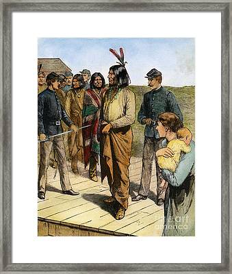Geronimo (1829-1909) Framed Print by Granger