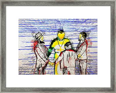 Hope For Peace In South Sudan Framed Print by Gloria Ssali