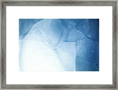 Ice Framed Print by Les Cunliffe