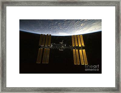 International Space Station Framed Print by Stocktrek Images