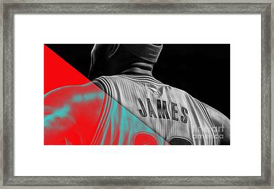 Lebron James Collection Framed Print by Marvin Blaine