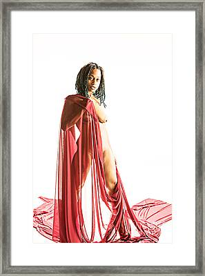 Neemah African American Nude Girl Photograph In Sexy Sensual Col Framed Print by Kendree Miller