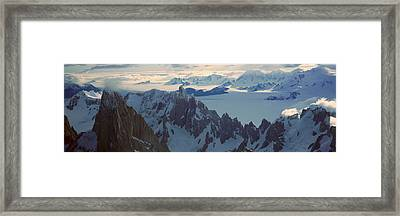 Panoramic Aerial View At 3400 Meters Framed Print by Panoramic Images