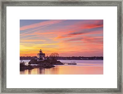 Pomham Sunset Framed Print by Bryan Bzdula