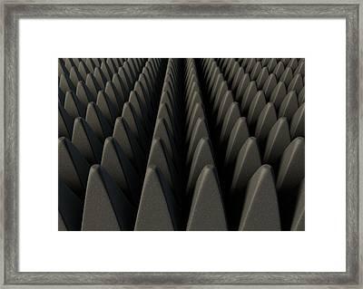 Sound Proof Foam Framed Print by Allan Swart