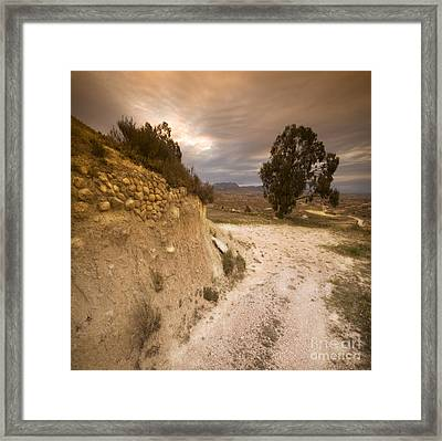 Spanish Landscape Framed Print by Angel  Tarantella