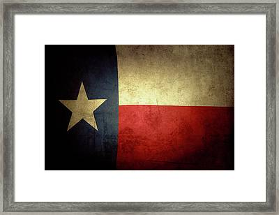 Texas Flag Framed Print by Les Cunliffe