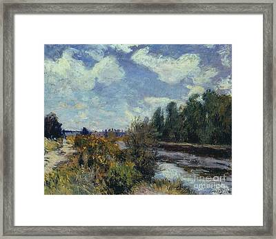 The Seine At Bougival Framed Print by MotionAge Designs
