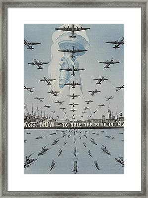 World War II Advertisement Framed Print by American School