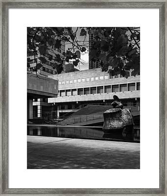 60 Lincoln Center Plaza, New York - Juliard School Framed Print by S R Shilling
