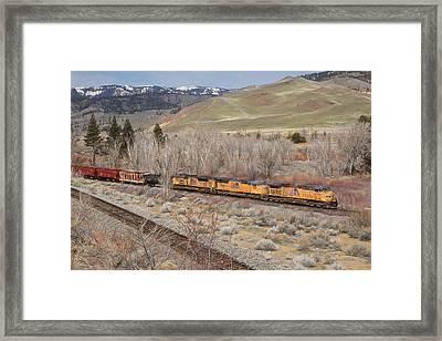 6056 Eastbound Framed Print by Donna Kennedy