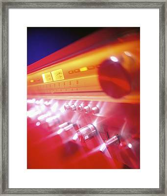 60s Amp Framed Print by Robert Ponzoni