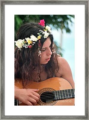 60's Flower Girl Framed Print by Ilan Rosen
