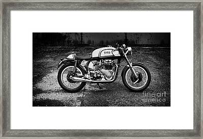 60s Triton Cafe Racer Motorcycle Framed Print by Tim Gainey
