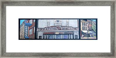 #62 Going To The Franklin Theatre Framed Print by Alison Poland