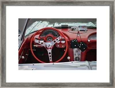62 Vette Dash Framed Print by Bill Dutting