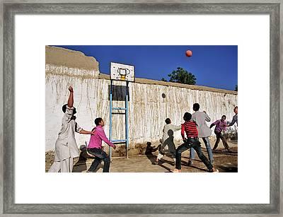 Kabuli Street Kids Framed Print by Olivier Blaise