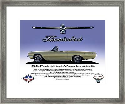 '66 Thunderbird Convertible Framed Print by Douglas Pittman