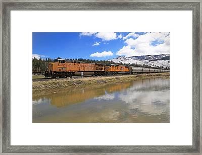 6692 Eastbound Framed Print by Donna Kennedy