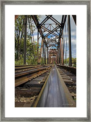 6th Street Reflections Augusta Georgia Trestle Bridge Framed Print by Reid Callaway