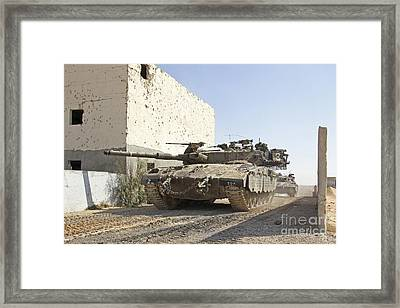 An Israel Defense Force Merkava Mark II Framed Print by Ofer Zidon
