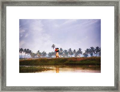 Backwaters Kerala - India Framed Print by Joana Kruse