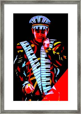 Elton John Collection Framed Print by Marvin Blaine