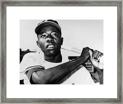Hank Aaron (1934- ) Framed Print by Granger