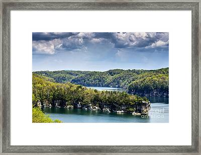 Long Point Summersville Lake Framed Print by Thomas R Fletcher