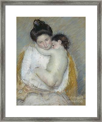 Mother And Child Framed Print by Mary Stevenson Cassatt