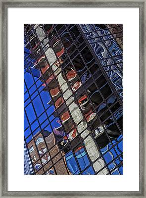 Reflective Glass Architecture Framed Print by Robert Ullmann
