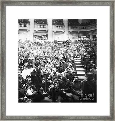 Russian Revolution, 1917 Framed Print by Granger