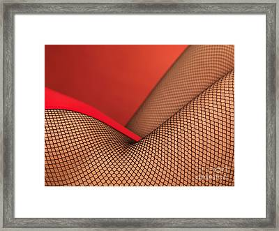 Sexy Young Woman In High Cut Swimsuit Framed Print by Oleksiy Maksymenko