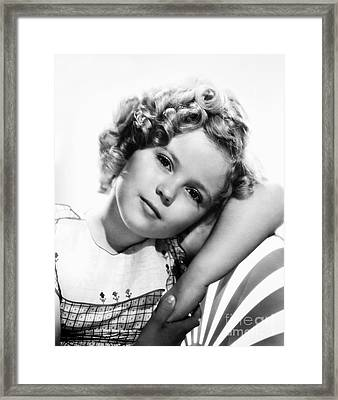Shirley Temple (1928-  ) Framed Print by Granger