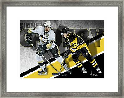 Sidney Crosby Framed Print by Don Olea