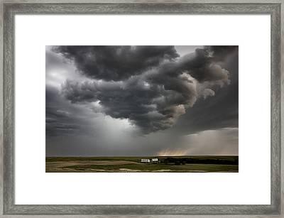 Storm Clouds Prairie Sky Framed Print by Mark Duffy