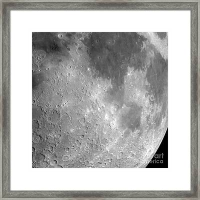 The Moon From Space, Artwork Framed Print by Detlev van Ravenswaay