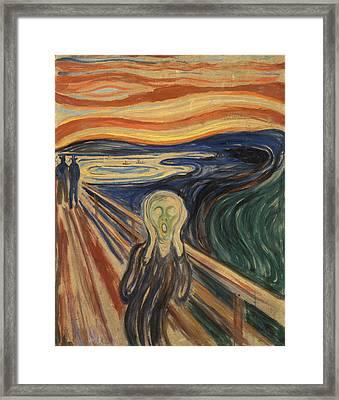 The Scream Framed Print by Edvard Munch