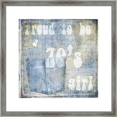 70's Girl Framed Print by Mindy Sommers