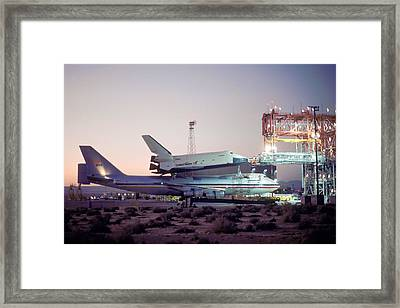 747 With Space Shuttle Enterprise Before Alt-4 Framed Print by Brian Lockett