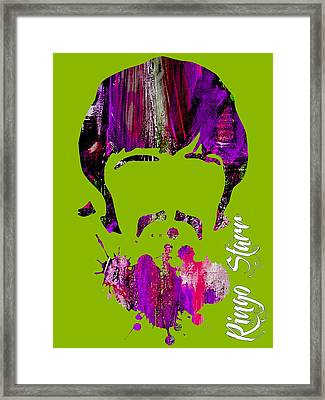Ringo Starr Collection Framed Print by Marvin Blaine
