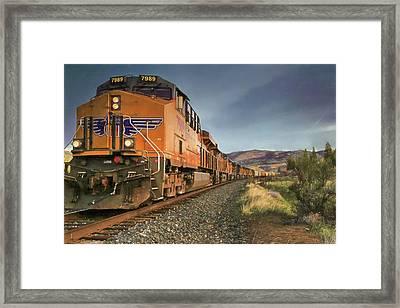 7989 - Nine Engines Westbound Framed Print by Donna Kennedy