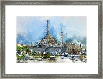 Blue Mosque In Istanbul Turkey Framed Print by Brandon Bourdages