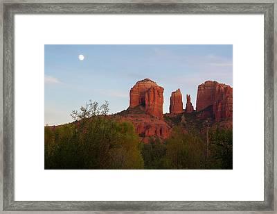Cathedral Rock Framed Print by Jon Manjeot