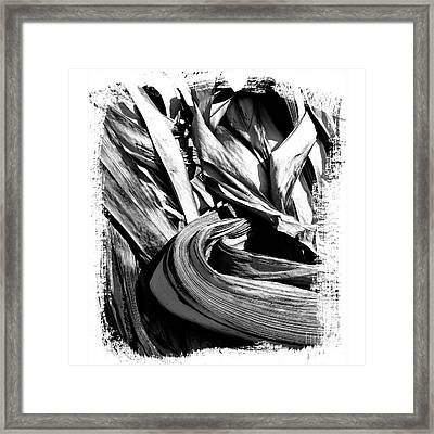 Compressed Pile Of Paper Products Framed Print by Bernard Jaubert