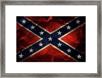 Confederate Flag Framed Print by Les Cunliffe