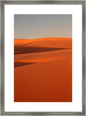 Coral Pink Sand Dunes At Sunset Framed Print by Pierre Leclerc Photography