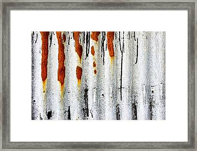 Corrugated Metal Framed Print by Tom Gowanlock