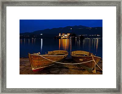 Island Of San Giulio Framed Print by Joana Kruse